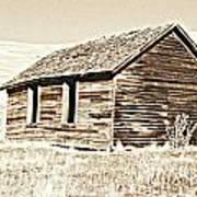 Old Ranch Hand Cabin L Art Print