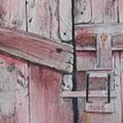 Old Red Barn Door Art Print