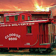 Old Red Caboose 500 Art Print