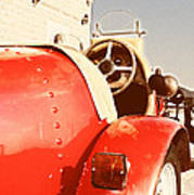 old Red Race Car Art Print