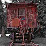 Old Red Train Art Print