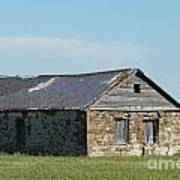 old rock house in ND. Art Print