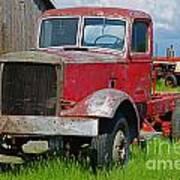 Old Rusted Semi-truck  Art Print