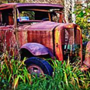 Old Rusting Truck Art Print