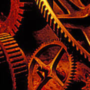 Old Rusty Gears Art Print by Garry Gay