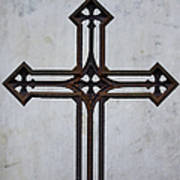Old Rusty Vintage Cross Art Print