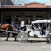 Old Sacramento California . Horse Drawn Buggy . 7d11482 Art Print by Wingsdomain Art and Photography