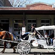 Old Sacramento California . Horse Drawn Buggy . Long Cut . 7d11482 Print by Wingsdomain Art and Photography