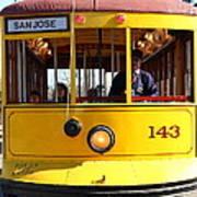 Old San Jose Railroads Cablecar Trolley 143 . San Jose California . 7d12963 Art Print