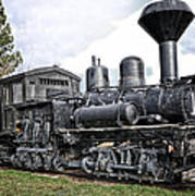 Old Shay Locomotive Art Print