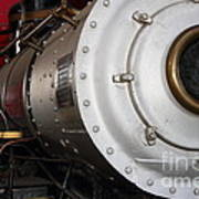 Old Steam Locomotive Engine 5 . The Little Buttercup . 7d12921 Art Print