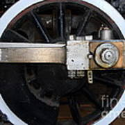 Old Steam Locomotive Engine 5 . The Little Buttercup . Train Wheel . 7d12916 Art Print