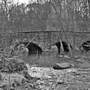 Old Stone Bridge Over The Unami Creek - Sumneytown Pa Art Print
