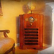 Old Time Radio Print by Paul Ward