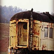 Old Train Car Art Print