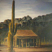 Old Tucson Home Art Print