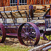 Old Wagon Bodie Ghost Town Art Print by Garry Gay