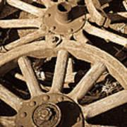Old Wagon Wheels Art Print