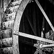 Old West Water Mill 2 Art Print by Darcy Michaelchuk