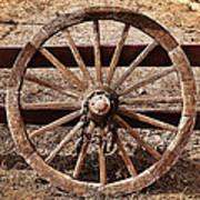 Old West Wheel Art Print by Kelley King