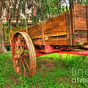 Old Wooden Cart Art Print
