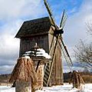 Old Wooden Windmill Art Print