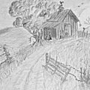 Old Woodshed II Print by Debbie Portwood