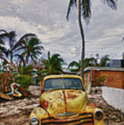 Old Yellow Truck Florida Art Print