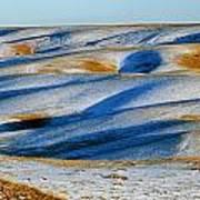 Oldman River Valley In Winter Art Print