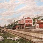 Oliveira Do Bairro Train Station Xix - Estacao Comboio De Oliveira Do Bairro Portugal Art Print