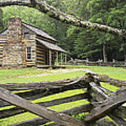 Oliver Cabin In Cade's Cove Art Print