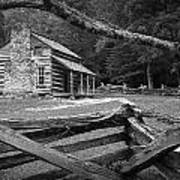 Oliver's Cabin In The Great Smokey Mountains Art Print