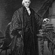 Olvier Ellsworth (1745-1807). Chief Justice Of The United States Supreme Court, 1796-1799. Steel Engraving, 1863 Art Print