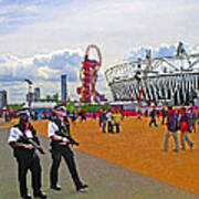 Olympic 2012 Stadium Security Art Print by Peter Allen