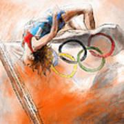 Olympics High Jump Gold Medal Ivan Ukhov Art Print