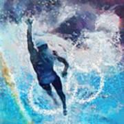 Olympics Swimming 01 Art Print