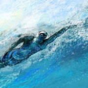 Olympics Swimming 03 Art Print