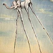 Omaggio A Salvador Dali' 2010 Art Print by Simona  Mereu