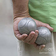 On The Boules Pitch Art Print