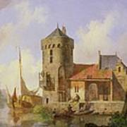 On The Rhine Art Print by Cornelius Springer