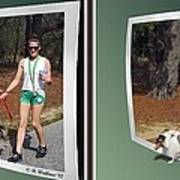 On The Trail - Gently Cross Your Eyes And Focus On The Middle Image That Appears Art Print