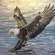 On Wings Of Eagles Art Print by Cecilia Putter