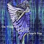 On Wings Of Love Angels Sing Art Print
