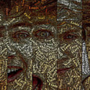One Direction Faces Mosaic Art Print