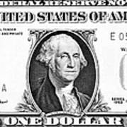 One Dollar Bill Art Print