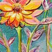 One Pink Flower Art Print