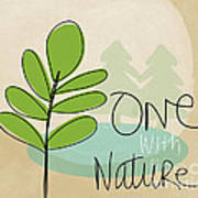 One With Nature Print by Linda Woods