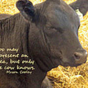 Only Cows Know Art Print