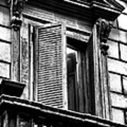 Open Shutter In Rome Art Print