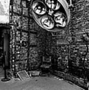 Operating Room - Eastern State Penitentiary - Black And White Art Print